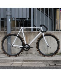 CARTEL BIKES AVENUE MAT WHITE 50mm CARBON WHEEL CUSTOM