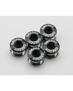 GREDDY CHAIN-RING BOLT&NUT CP BLACK