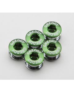 GREDDY CHAIN-RING BOLT&NUT CP GREEN