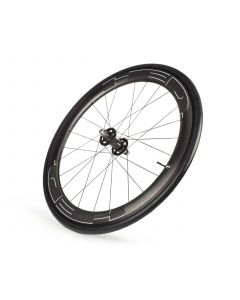 HED. JET 6 PLUS BLACK TRACK CLINCHER  CARBON WHEEL FRONT