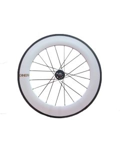 DINER 88mm CARBON WHEEL CLINCHER FRONT WHITE