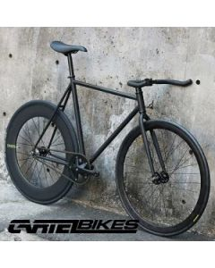 "CARTEL BIKES ""AVENUE LO"" DINER REAR 88mm CARBON WHEEL CUSTOM MAT BLACK"