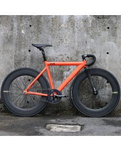 LEADER 721 MATTE ORANGE DINER 88mm CARBON WHEEL CUSTOM