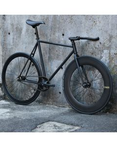 "CARTEL BIKES ""AVENUE LO"" DINER FRONT 88mm CARBON WHEEL CUSTOM MAT BLACK"