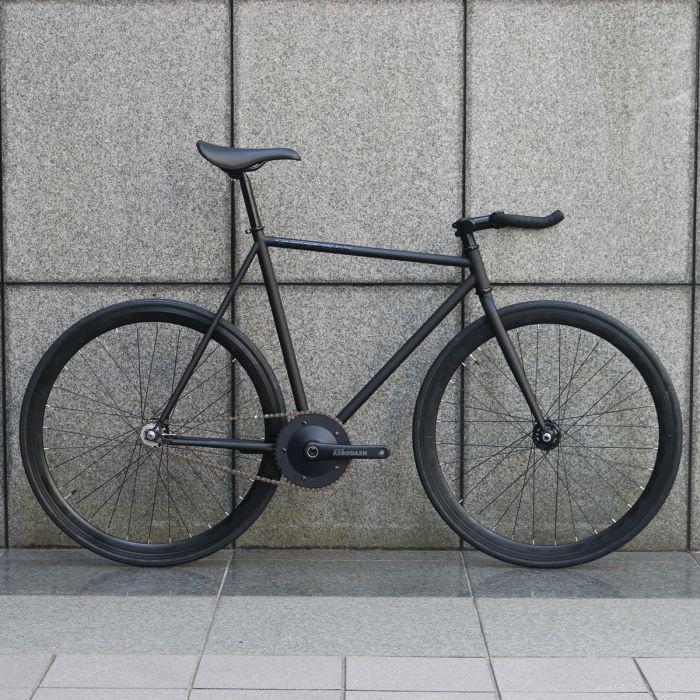 【 SPECIAL PRICE 】ピストバイク 完成車 CARTEL BIKES AVENUE LO MAT BLACK AERODASH DIRECT CRANKSET CUSTOM