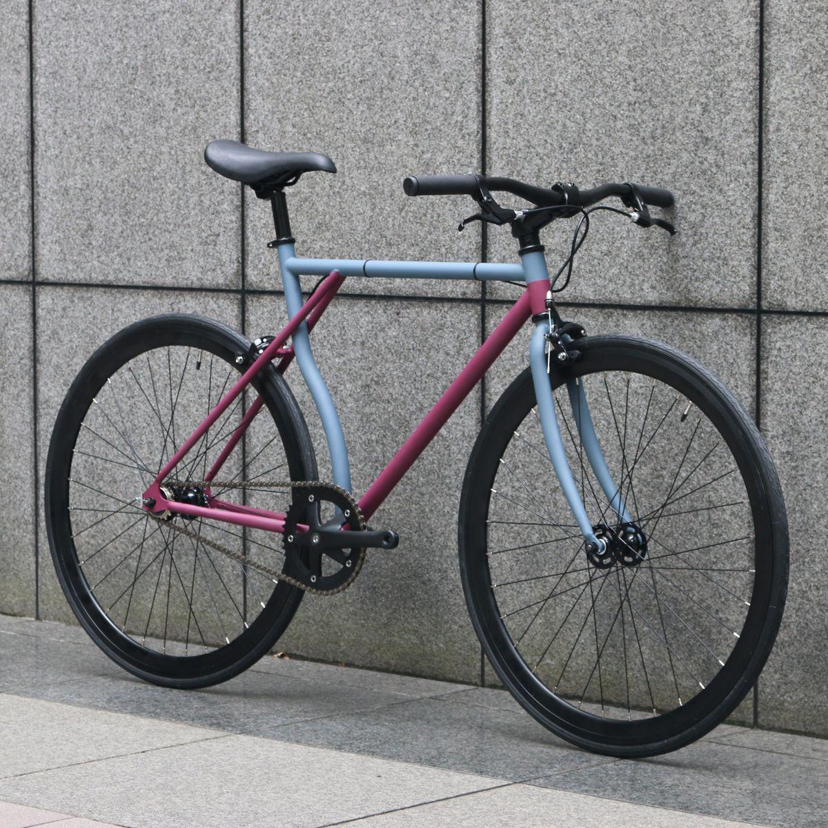 ピストバイク 完成車 CARTELBIKES×Hombre Niño HOMBREMENTARY MAT PURPLE x MAT GREY カーテルバイクス×オンブレニーニョ オンブレメンタリー マットパープル マットグレイ PISTBIKE