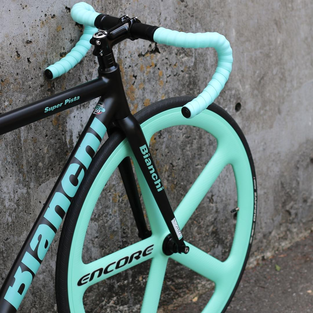 BIANCHI SUPER PISTA ENCORE WHEELS CELESTE CUSTOM!!